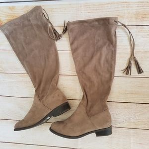 Torrid faux suede boots. Size 9.5